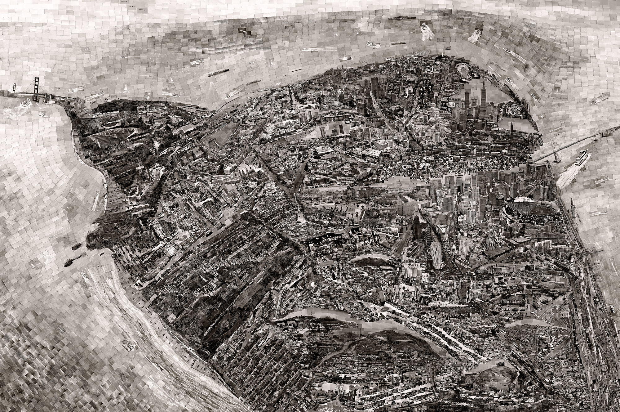 Anthropic landscapes of urban environments / Sohei Nishino