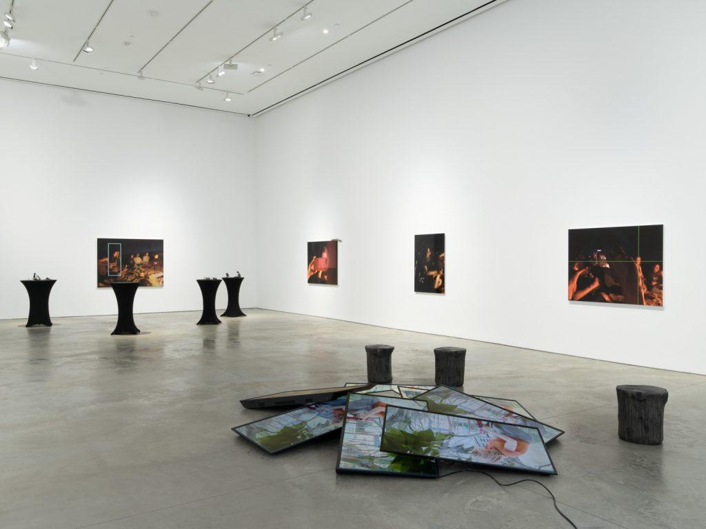 Kim Gordon, Installation view: The Bonfire, 303 Gallery, New York, 2020 Photo: John Berens