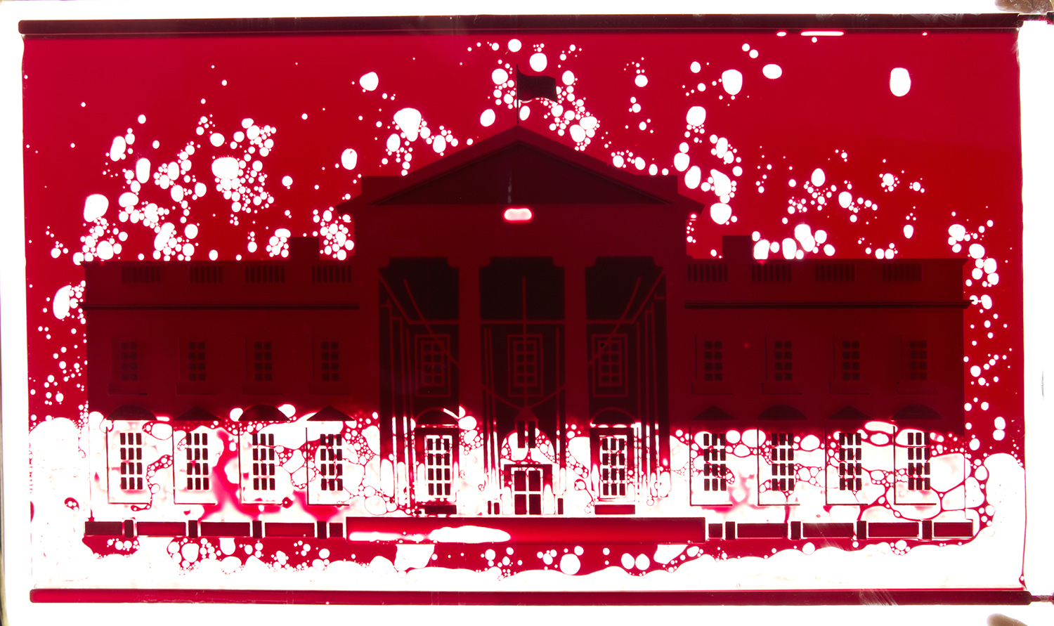 A White House In Red Square Andrei Molodkin S White House Filled With American Blood Xibt Contemporary Art Mag